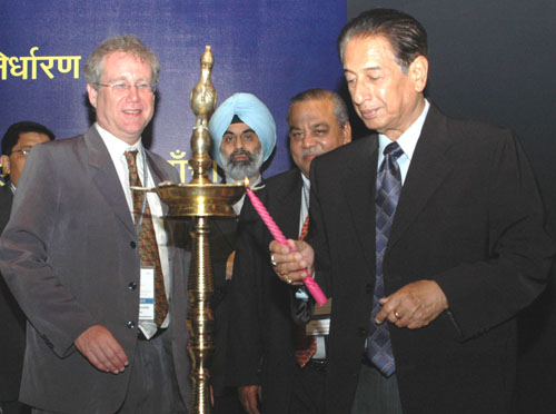 The Minister of State for Chemicals & Fertilizers and Mines, Shri B.K. Handique lighting the lamp at the inauguration of Seminar on Pharmaceutical Pricing and Regulatory framework for Affordable Medicines, in New Delhi on April 12, 2008