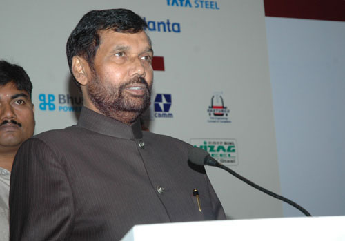 The Union Minister of Chemicals & Fertilizers and Steel, Shri Ram Vilas Paswan delivering the inaugural addresson the National Metallurgists Day 2008 Annual Technical Meeting 2008, at Greater Noida, U.P. on November 14, 2008