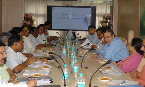 The Union Fertilizer Secretary, Shri Atul Chaturvedi at a meeting of the Fertilizer Secretaries of all the States on the issue of nutrient based subsidy, in New Delhi on August 20, 2009