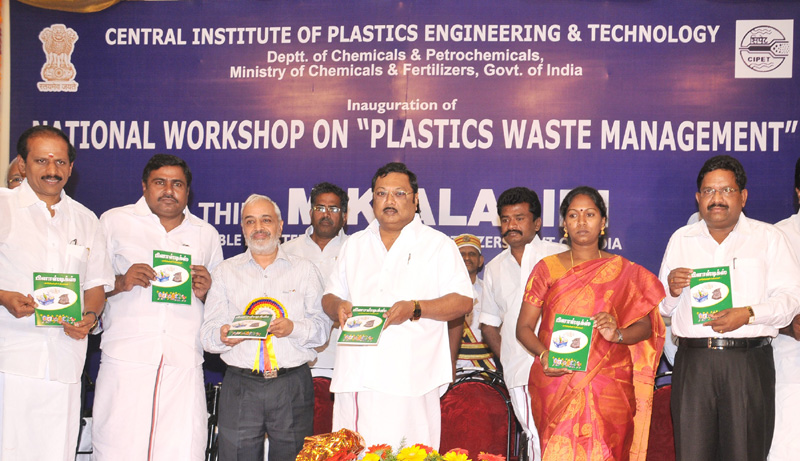 The Union Minister for Chemicals & Fertilizers, Shri M. K. Alagiri releasing a publication on Plastics, at the inauguration of National Workshop on Plastics Waste Management, in Madurai on January 22, 2011