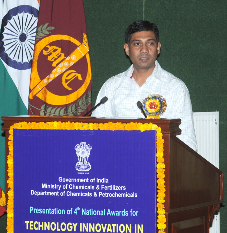 The Minister of State for Chemicals and Fertilizers, Shri Nihalchand addressing at the presentation of the 4th National Awards for Technology Innovation in Petrochemicals & Downstream Plastic Processing Industry 2013-14, under the aegis of National Policy on Petrochemicals, in New Delhi on July 17, 2014