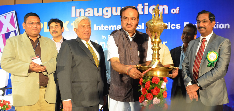 The Union Minister for Chemicals and Fertilizers, Shri Ananthkumar lighting the lamp to inaugurate the IPLEX 14-International Plastics Exposition, in Hyderabad on August 08, 2014