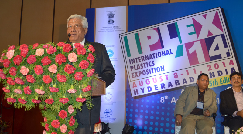 The Secretary, Ministry of Chemicals and Fertilizers, Shri Indrajit Pal addressing at the inauguration of the IPLEX 14-International Plastics Exposition, in Hyderabad on August 08, 2014