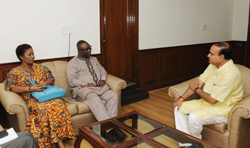 The High Commissioner of the Republic of Ghana, Mr. Samuel Panyin Yalley calls on the Union Minister for Chemicals and Fertilizers, Shri Ananthkumar, in New Delhi on August 26, 2014