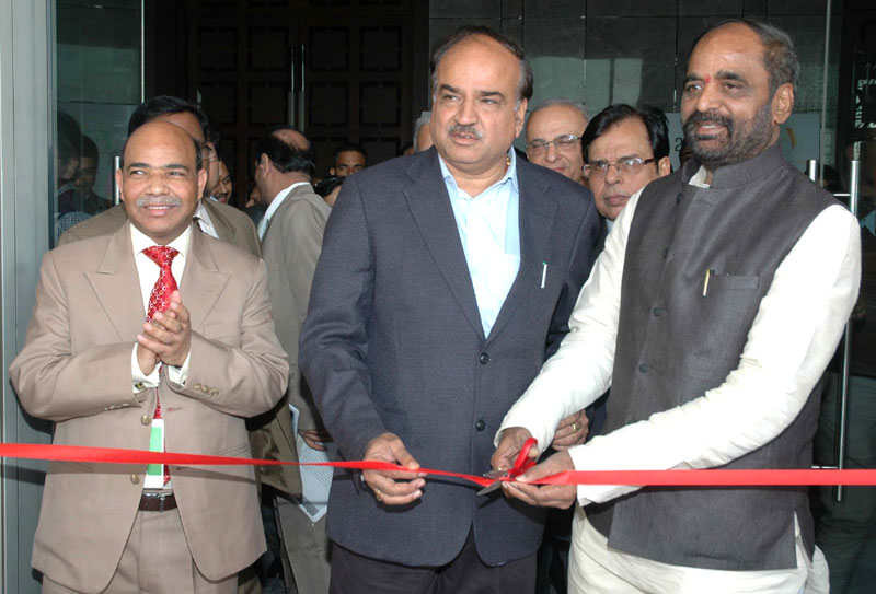 The Union Minister for Chemicals and Fertilizers, Shri Ananthkumar and the Minister of State for Chemicals & Fertilizers, Shri Hansraj Gangaram Ahir inaugurating the Fertilizer Association of India annual seminar 2014 on 'Unshackling the Fertilizer Sector', in New Delhi on December 10, 2014
