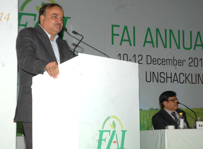 The Union Minister for Chemicals and Fertilizers, Shri Ananthkumar addressing at the inauguration of the Fertilizer Association of India annual seminar 2014 on 'Unshackling the Fertilizer Sector', in New Delhi on December 10, 2014