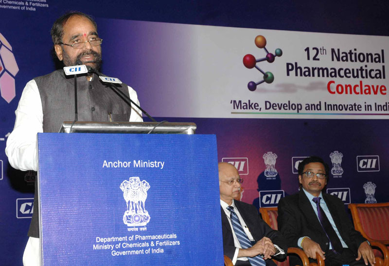 The Minister of State for Chemicals & Fertilizers, Shri Hansraj Gangaram Ahir addressing at the Inauguration of the CII National Pharmaceutical Conclave, in New Delhi on December 12, 2014