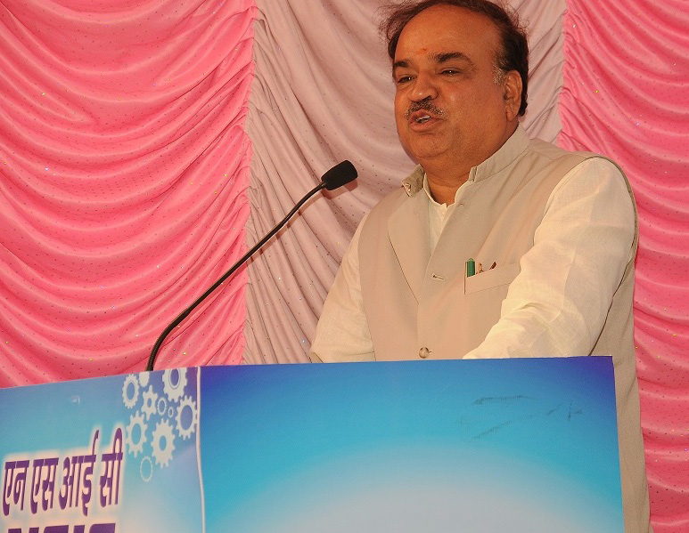 The Union Minister for Chemicals and Fertilizers, Shri Ananthkumar addressing at the inauguration of the new office building of National Small Industries Corporation Limited, in Bengaluru on March 08, 2015.
