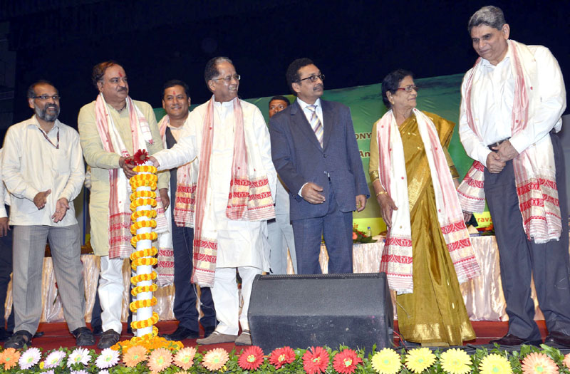 The Chief Minister of Assam, Shri Tarun Gogoi along with the Union Minister for Chemicals and Fertilizers, Shri Ananth Kumar laying the foundation stone of the National Institute of Pharmaceutical Education and Research, in Guwahati on May 30, 2015. The Minister of State for Youth Affairs and Sports (Independent Charge), Shri Sarbananda Sonowal and other dignitaries are also seen.