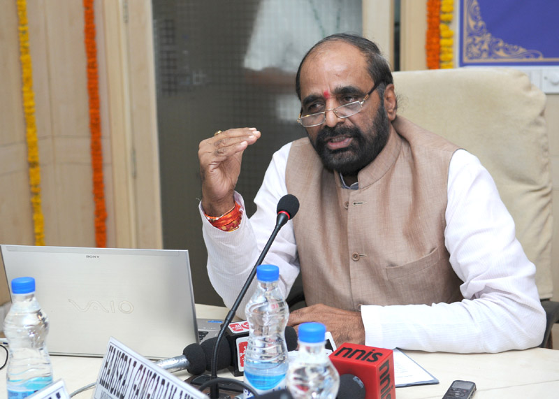 The Minister of State for Chemicals & Fertilizers, Shri Hansraj Gangaram Ahir addressing at the launch of the revamped website of Department of Pharmaceuticals, in New Delhi on September 23, 2015