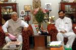 The Agriculture and Cooperative Minister of Nepal, Shri Mahanta Thakur calls on the Union Minister for Steel, Chemicals and Fertilizers, Shri Ram Vilas Paswan, in New Delhi on June 8, 2006