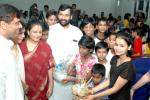 The Union Minister for Steel, Chemicals and Fertilizers, Shri Ram Vilas Paswan celebrating the spirit of freedom with orphan children under care of NGO Udayan in New Delhi on August 15, 2006