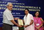 The Secretary, Department of Chemicals & Petrochemicals, Ministry of Chemicals & Fertilizers, Shri K. Jose Cyriac presented the National Awards for Technology Innovation in Petrochemicals & Downstream Plastic Processing Industry (2011-2012), at a function, in New Delhi on April 26, 2012