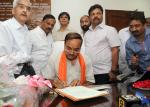 Shri Ananthkumar taking charge as the Union Minister for Chemicals and Fertilizers, in New Delhi on May 28, 2014