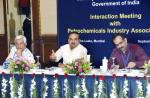 The Union Minister for Chemicals and Fertilizers, Shri Ananthkumar attending the interactive meeting with the Petrochemicals Industry Association, in Mumbai on September 06, 2014The Secretary, Ministry of Chemicals and Fertilizers, Shri Indrajit Pal is also seen