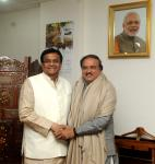 The Agriculture Minister, Haryana, Shri O.P. Dhankar calls on the Union Minister for Chemicals and Fertilizers, Shri Ananthkumar, in New Delhi on January 13, 2015