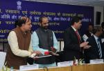 The Union Minister for Chemicals and Fertilizers, Shri Ananthkumar launching the 'Pharma Jan Samadhan', in New Delhi on March 12 2015. The Minister of State for Chemicals & Fertilizers, Shri Hansraj Gangaram Ahir is also seen.