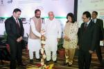 The Minister of State for Chemicals & Fertilizers, Shri Hansraj Gangaram Ahir lighting the lamp to inaugurate the India Pharma-2016 and India Medical Expo 2016