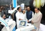 The Union Minister for Chemicals and Fertilizers, Shri Ananth Kumar visiting the India Medical Expo-2016, an exhibition for medical electronics and device sector, in Bengaluru on January 07, 2016. The Minister of State for Chemicals & Fertilizers, Shri Hansraj Gangaram Ahir, the Minister for Health, Karnataka, Shri U.T. Khader and the Minister for Medical Education, Karnataka, Dr. Sharan Prakash Patil are also seen.