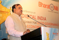The Union Minister for Chemicals and Fertilizers, Shri Ananth Kumar delivering the inaugural address at the Conference on Digital India - Highway for Good Governance and Economic Growth, in Bengaluru on January 09, 2016.